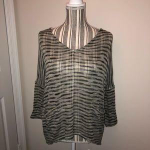 Eyeshadow Striped Knit Sweater